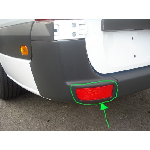 Réflecteur pare choc Gauche Mercedes Sprinter 2006 à 2013