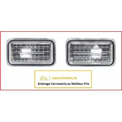 2 Feu Clignotant répétiteur argent AUDI A6 1994 à 1997
