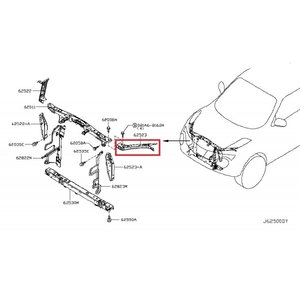base-de-phare-superieur-gauche-conducteur-nissan-juke-f15-apres-2010-oe-625211ka0a