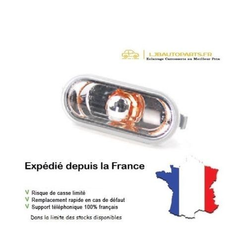 répétiteur d'aile Tuning Transparent insert Orange VW Lupo 98 à 05