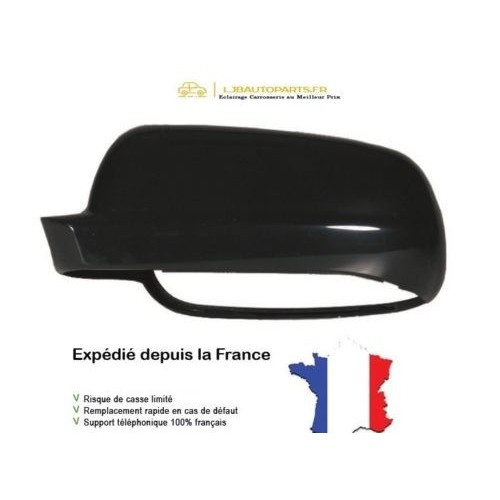 3B0857537C Coque rétroviseur Large Couleur Noir Gauche SEAT Cordoba I 1999 à 2002