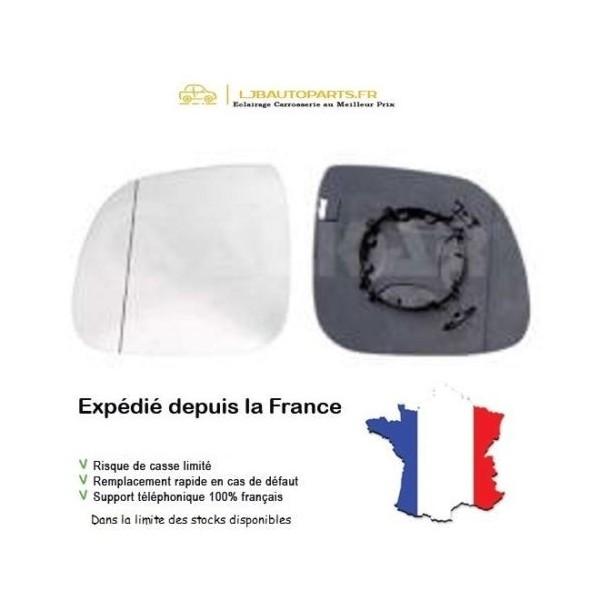 2H0857521C Glace+Support Asphérique Gauche Chauffant VOLKSWAGEN MULTIVAN V 2009 à 2015