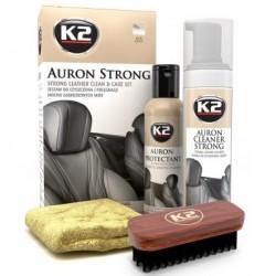 K2 AURON STRONG Kit propre et de soins pour le cuir fortement souillées