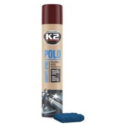 K2 POLO + MICROFIBRE spray 750 ML entretien du tableau de bord parfum café