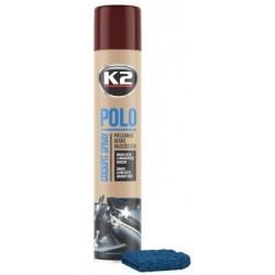 K2 POLO + MICROFIBRE spray 750 ML entretien du tableau de bord parfum Cola