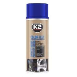 K2 Color Flex bombe peinture-film jantes couleur bleu 400ml