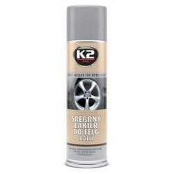 Bombe 500 ML Peinture argentée pour peindre des jantes de voiture K2 L332