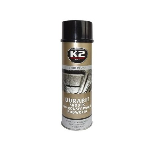 K2 DURABIT Bombe agent d'entretien du châssis noir 500ml