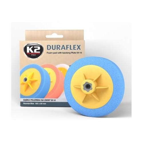 K2 DURAFLEX tampon polissage forte bleu filetage M14 diamètre 150 mm