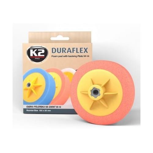 K2 DURAFLEX tampon polissage moyen orange filetage M14 diamètre 150 mm