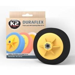 K2 DURAFLEX tampon polissage finition noir filetage M14 diamètre 150 mm
