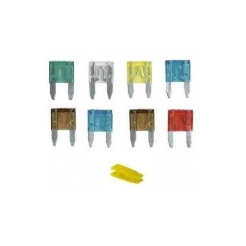 Lot de 8 fusibles taille mini avec pince