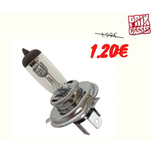 Ampoule H4 Prenium extra light +30% 12V 60/55W P43t