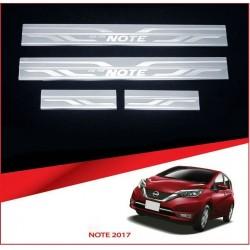 Lot 4 seuils de porte chromes Nissan Note après 2017