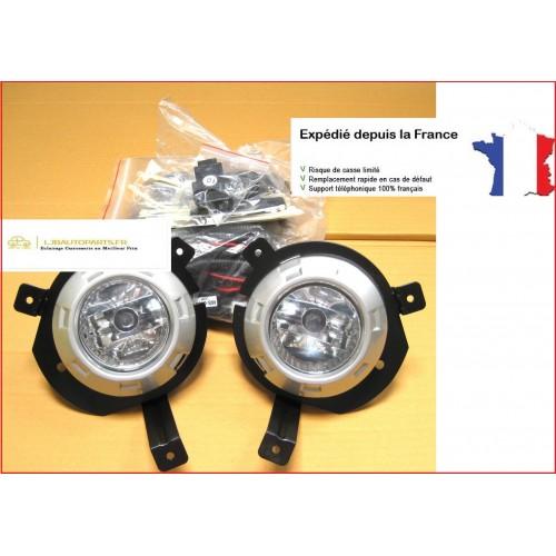 Kit complet de montage phares antibrouillards avants Mitsubishi L200 de 2005 à 2010