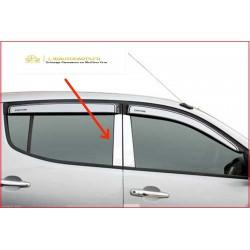 4 caches montants de portes Mitsubishi L200 de 2005 à 2015 Inox