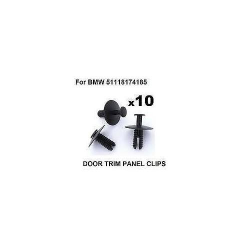 10 Chevilles de Moulures de Pare-chocs OE: 51118174185 BMW Série 3 (E46) BREAK de 1998 à 2001