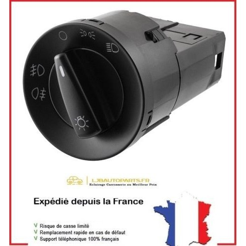 Commande Phare + Antibrouillard AV+AR OE 1C0941531A VW Jetta 1998/2005