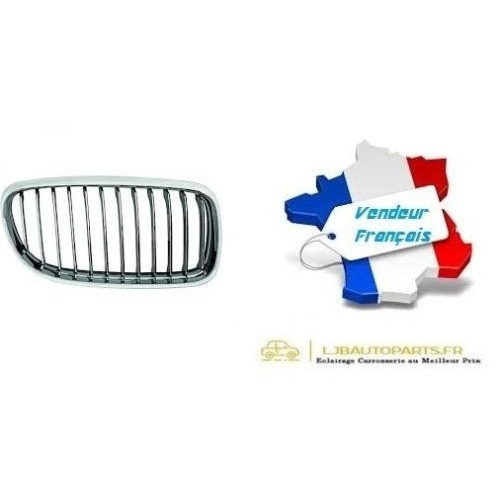 Grille de Calandre avant droite Chromé OE: 51137201968 BMW Série 3 (E90/E91) de 2008 à 2012