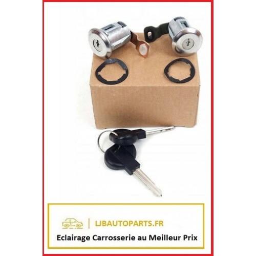 2 serrures - barillets avants + 2 clés Citroen Berlingo 2002 à 2008