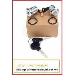 2 serrures - barillets avants + 2 clés Peugeot Partner 1996 à 2002