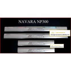 Lot 4 seuils de porte chromes Nissan Navara NP300 après 2014