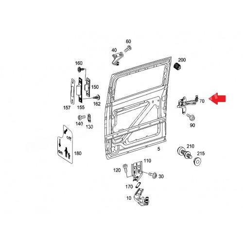 Guidage à galets, porte coulissante Mercedes Vito / Viano ( 639 )