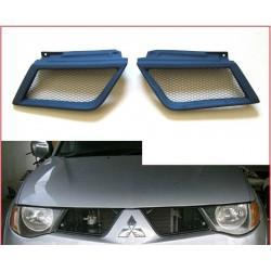 2 grilles de calandre style sport Mitsubishi L200 de 2005 à 2010