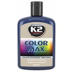 K2 cire brillante MAX 200 ML Couleur bleu marine